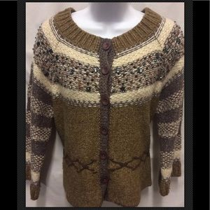 KNITTED KNOTTED Anthropologie Embellished Wool